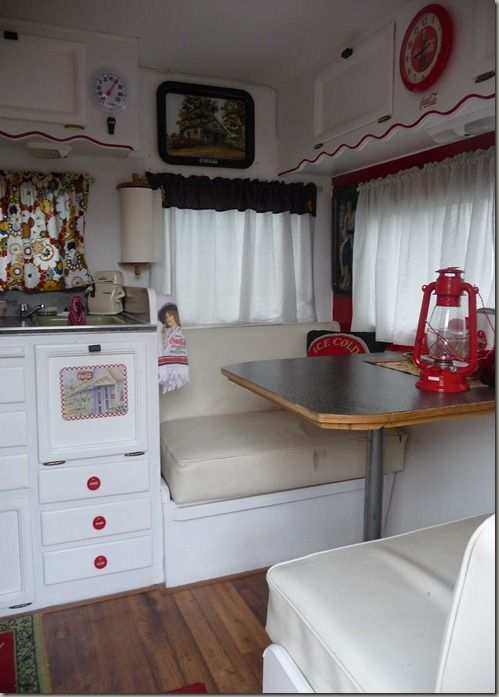 Love The Scallop On Cabinets Vintage Trailer Camping Glamping