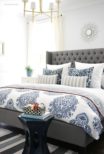 20+ Fresh Ideas for Decorating with Blue and White