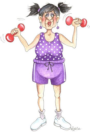 "by Laurie Furnell - ""Senior Moments"" - We're pretty proud that all of our lady seniors are this elegant & fit! FITNESS AT ANY AGE! :-)"