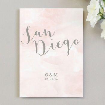 Romance Wedding Table Name Cards