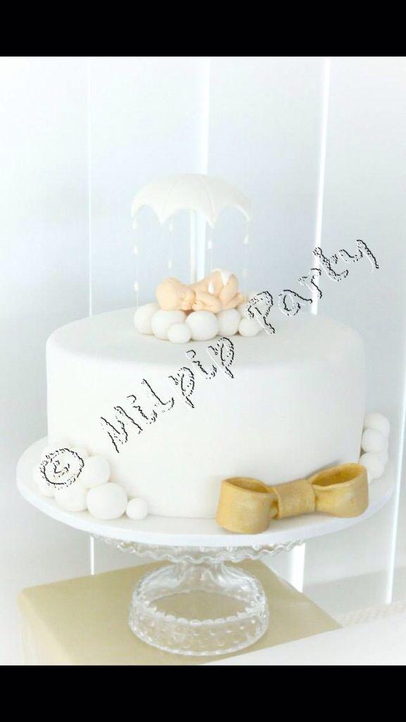 Baby Under Umbrella/ Baby Shower Cake Www.facebook.com/milpipparty
