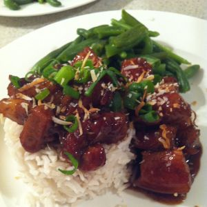 Sticky Ginger Braised Pork Belly