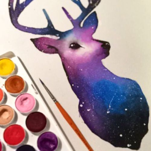 galaxy watercolor - Google Search
