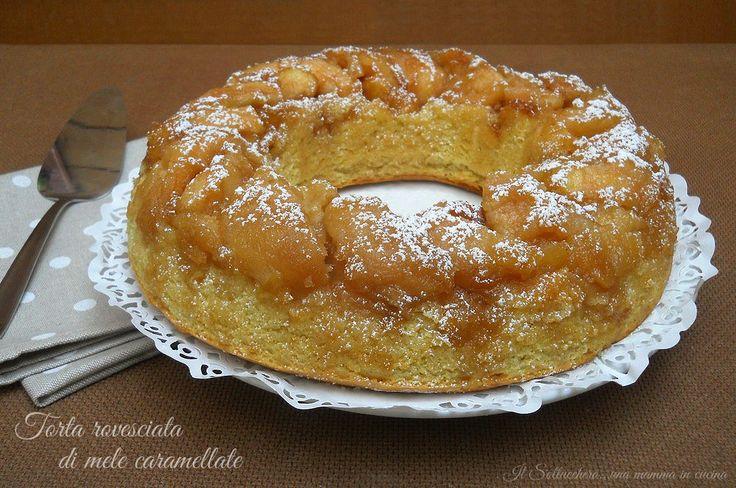La torta rovesciata di mele caramellate è molto semplice da realizzare e deliziosa da gustare, potete aggiungere spezie o frutta secca e servirla a colazione o per merenda