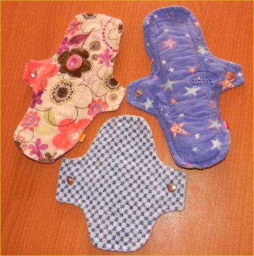 Toalla femeninas de tela Ecolunas
