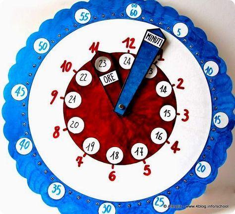 Lavoretti con i bambini: l'orologio magico per imparare a leggere l'ora - Alessia, scrap & craft...Alessia, scrap & craft…