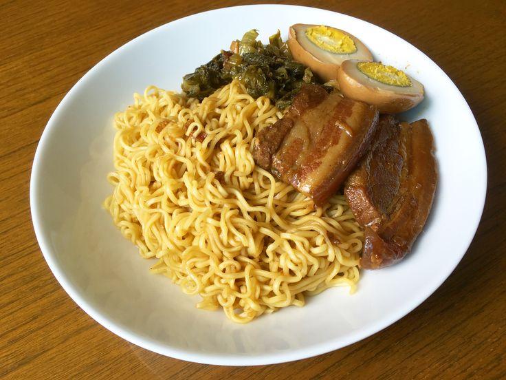 Stewed Pork Belly on Noodles
