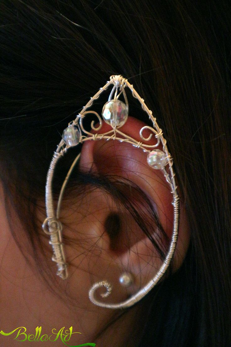 Wire wrapped elf ear
