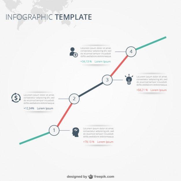 Template Infográfico com texto Vetor grátis