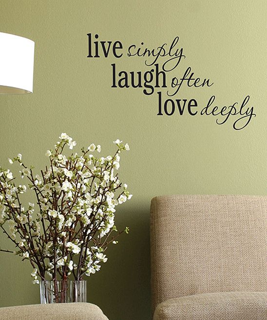 'Live Laugh Love' Wall Quote