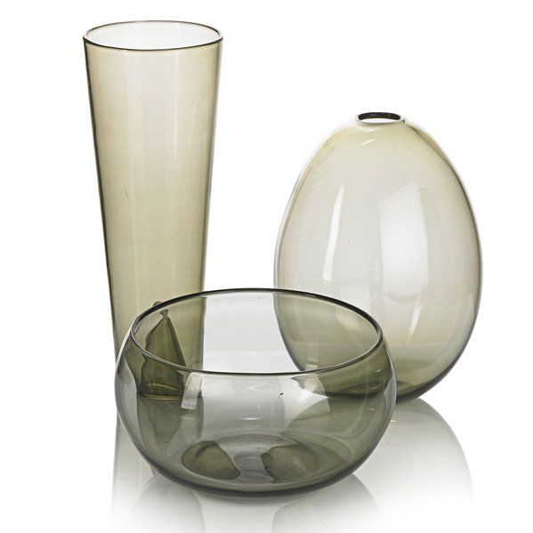 Kaj Franck; Nuutajarvi Three Glass Vessels