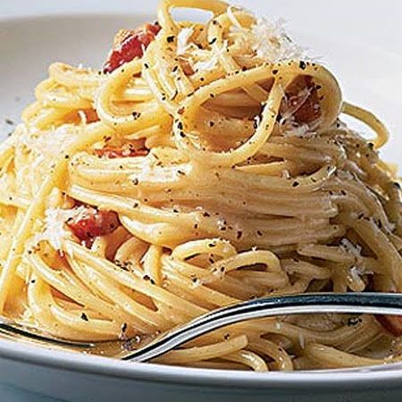 Carbonara - Rachael Ray.  So simple to make but so full of flavor.  I love it
