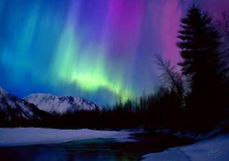 Northern Lights Painting  - Northern Lights Fine Art Print