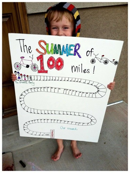 would be fun to do with walking/biking 100 miles over the summer