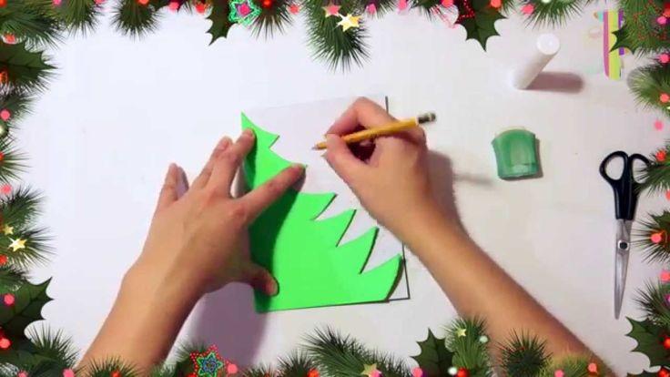 В этом видео вы можите увидеть как сделать  ёлочку из цветного картона на новый год!