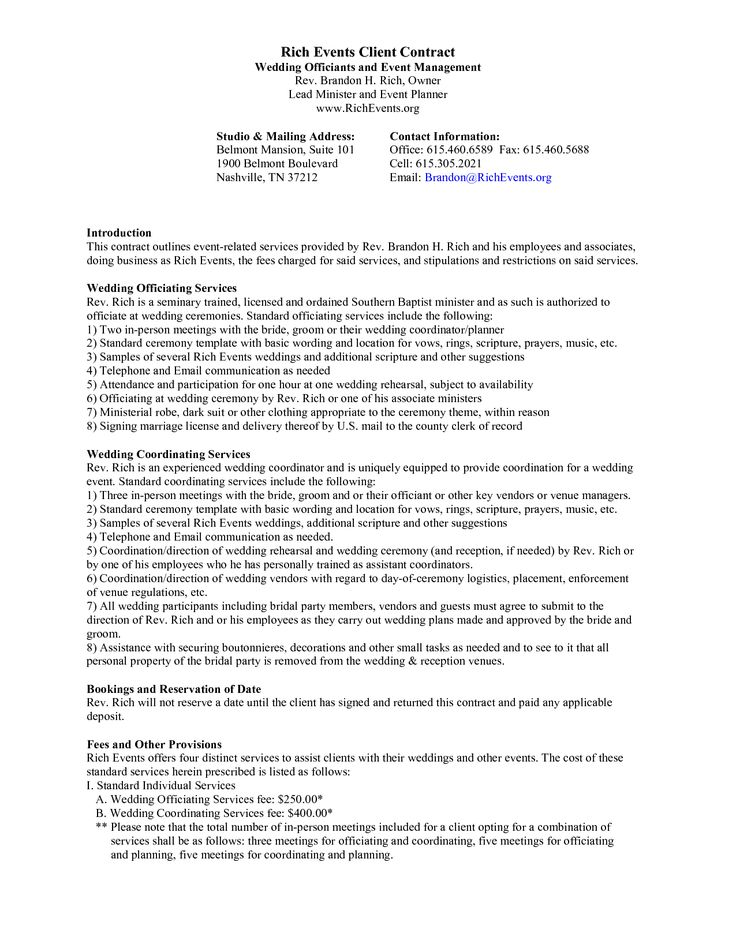 event planner contract template ENkzLlvG