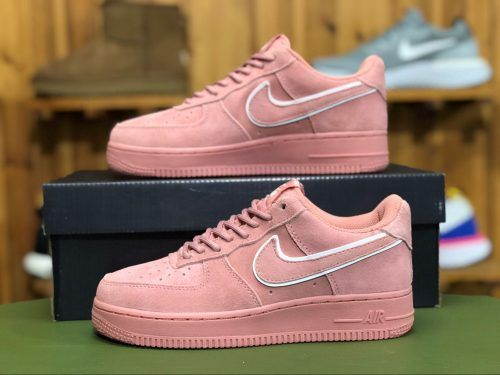 new arrivals 26e60 79ac4 Womens Nike Air Force 1s 07 Low Suede Red AA1117-601-6