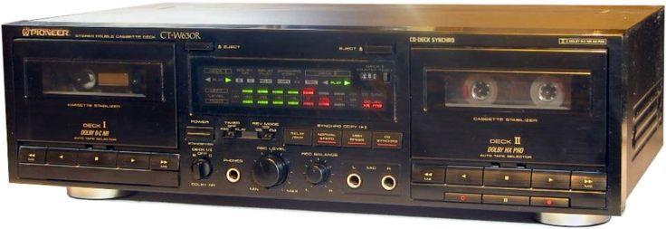 PIONEER CT-W630R | Double Cassette Decks 1 | Pinterest
