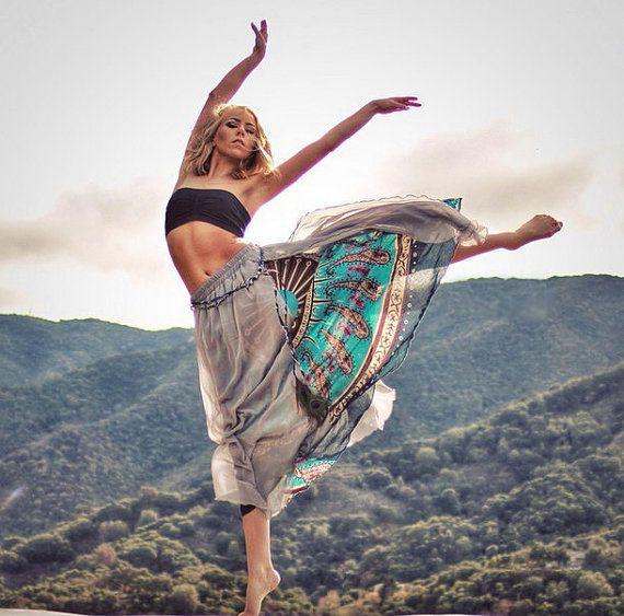 Nepalesische Sari Baumwolle Chiffon Maxirock von idea2lifestyle