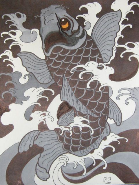 Traditional Japanese Koi - my second adaptation of a Chris Garver Design.
