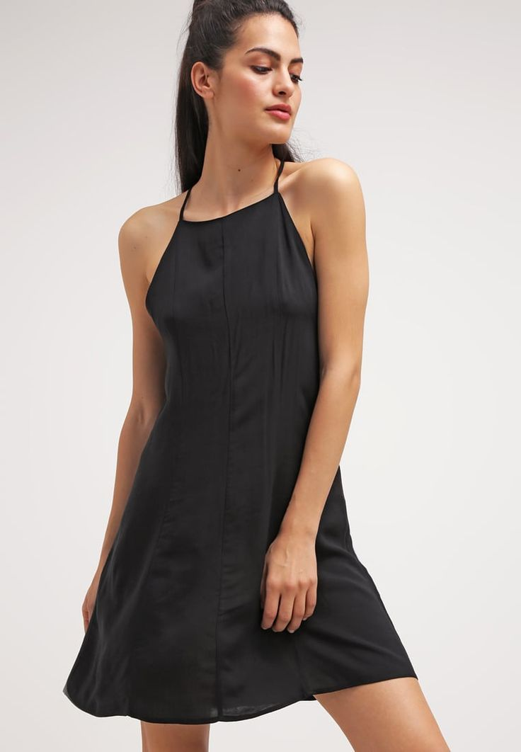 Vestito lungo nero scollato dietro sched