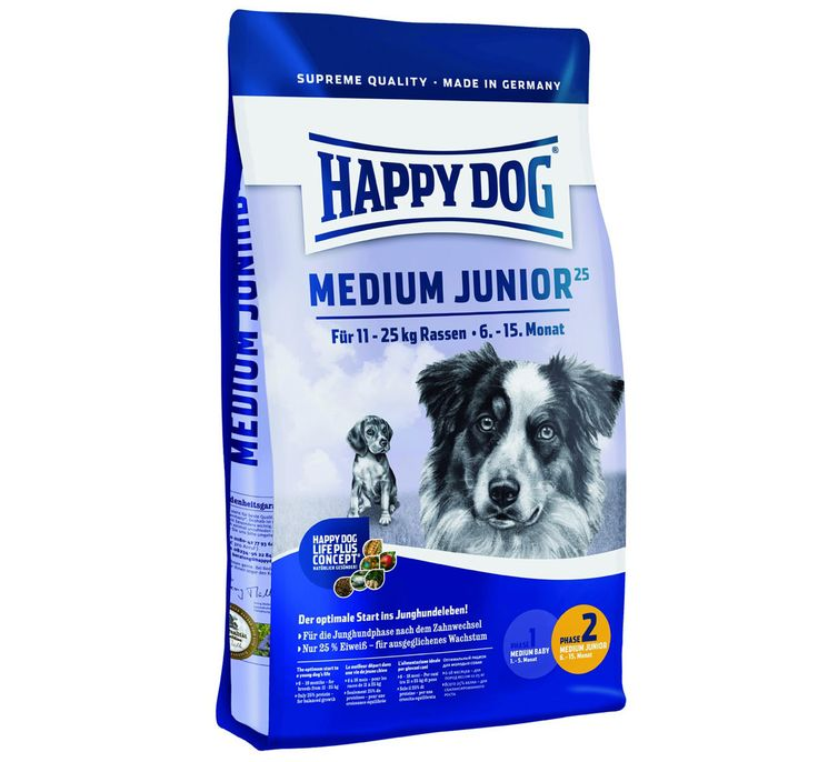 Happy Dog Medium Breed Junior Dog Food 1 Kg Buy Dog Food Online http://www.dogspot.in/treats-food/