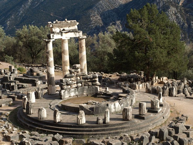 Tholos : Greek term for a building on a circular plan, usually a temple or tomb