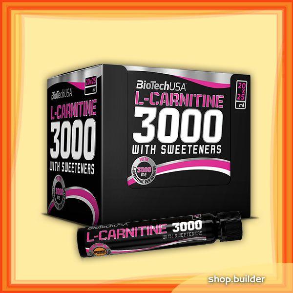 BioTech USA L-Carnitine 3000 Ampulles (20x25 ml)