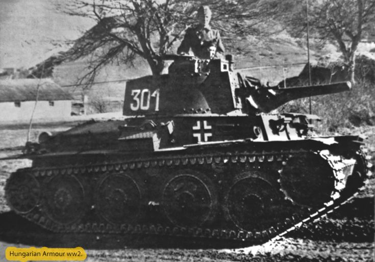 Hungarian pz38t. wearing a provisional tower number drawn with chalk.