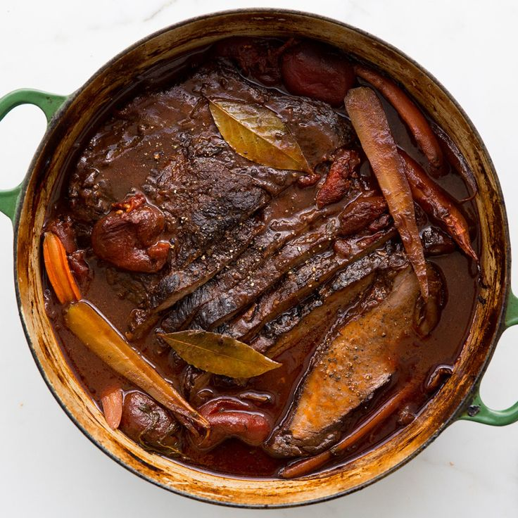 You know those dishes that everyone says taste even better if you make them ahead of time? This is a perfect example. The flavors continue to deepen as the braise sits, and it's that much easier to skim the surface when the sauce has a chance to chill. This is part of BA's Best, a collection of our essential recipes.