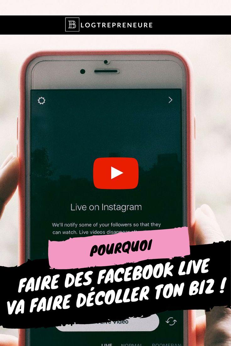 Tu hésites à faire des Facebook live ? Tu te demandes si ça peut t'aider à gagner en visibilité et développer ton business ? J'ai pour toi 3 bonnes raisons de te mettre à faire des Facebook live.