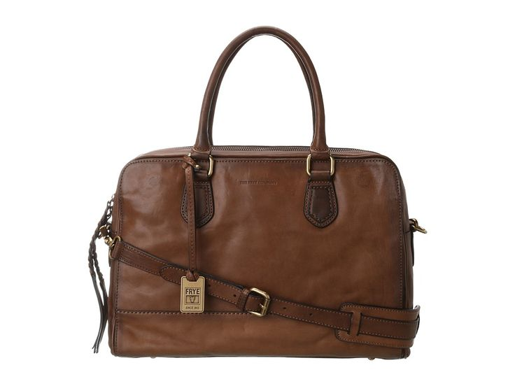 The Jamie Work from Frye is the perfect office bag when you want a more relaxed professional appearance. Work bag made of tumbled full grain leather. Main compartment can hold your wallet, keys, sunglasses, personal technology, and work files. Exterior front pocket to easily stash essentials.Removable leather cross body strap and two leather handles for easy carrying. http://www.zocko.com/z/JIQgb