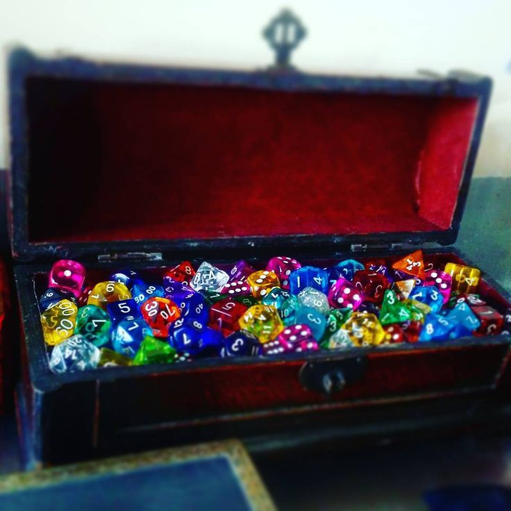 Oh I'm sorry, do you not have a literal chest of dice on your desk #top1D100percent