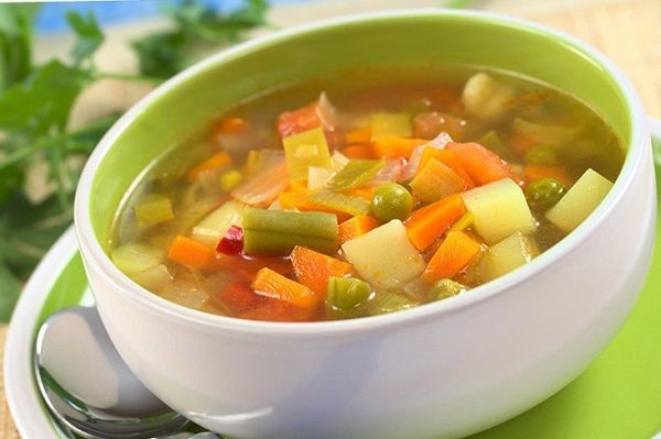 Recipe for vegetable broth to cleanse the body