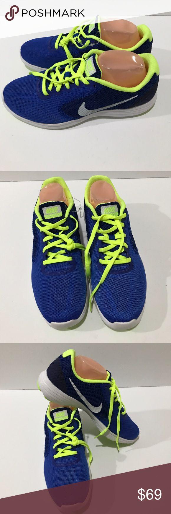 Nike Revolution 3 Running Racer Bl/WtVolt-Black Nike Revolution 3 [819300-403] Running Racer Blue/White-Volt-Black Nike Shoes Sneakers