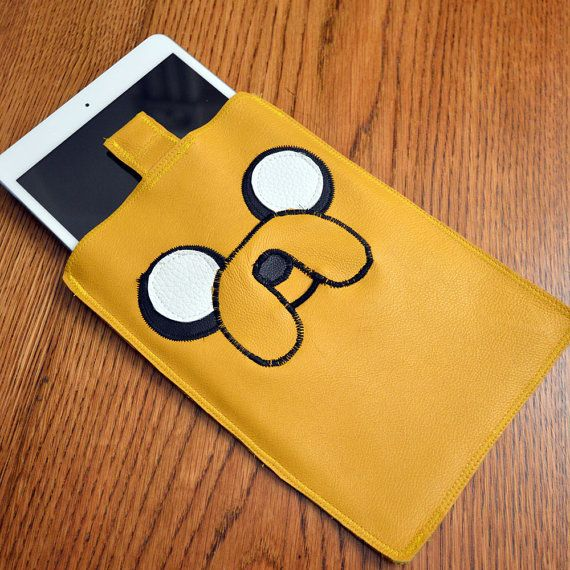 """Jake The Dog Leather iPad Mini Case ($65) / 21 Of The Most Unique """"Adventure Time"""" Etsy Finds (via BuzzFeed Community)"""