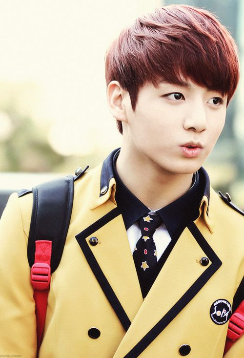 bts jungkook - at least in this group the maknae looks like the maknae