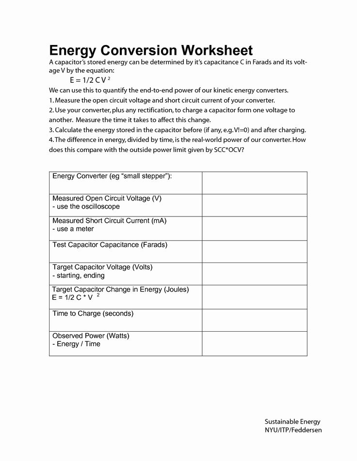 Forms Of Energy Worksheet Answers Inspirational 16 Best Of