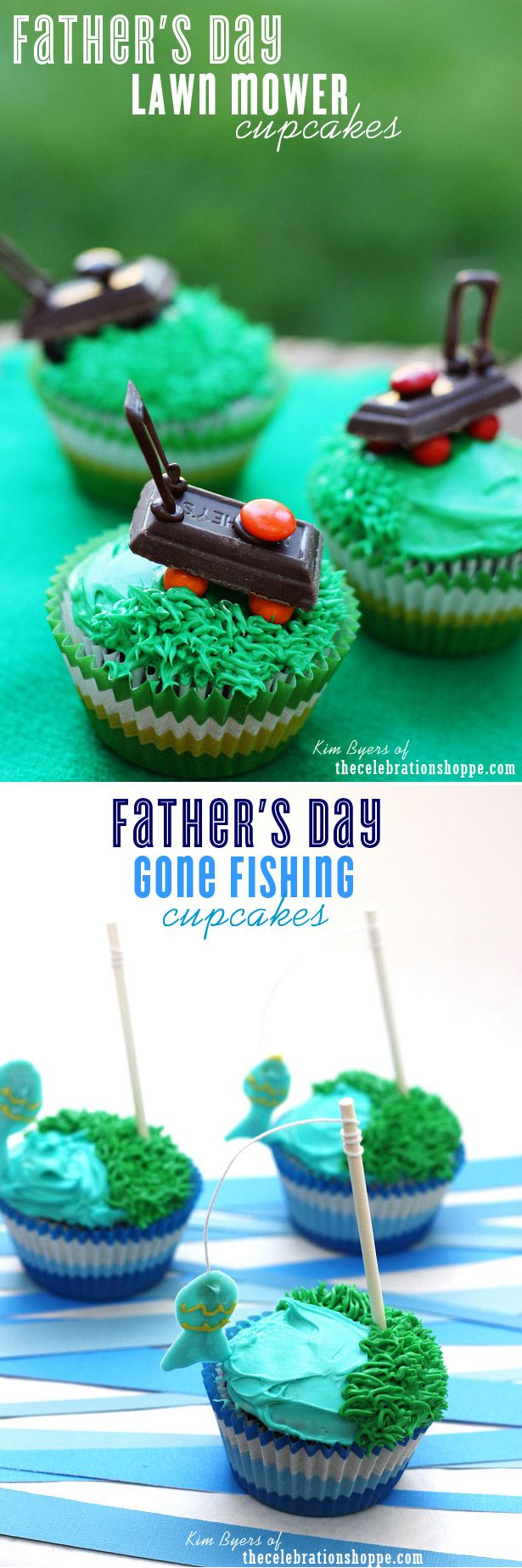 Father's Day Cupcake Ideas | Kim Byers, TheCelebrationShoppe.com