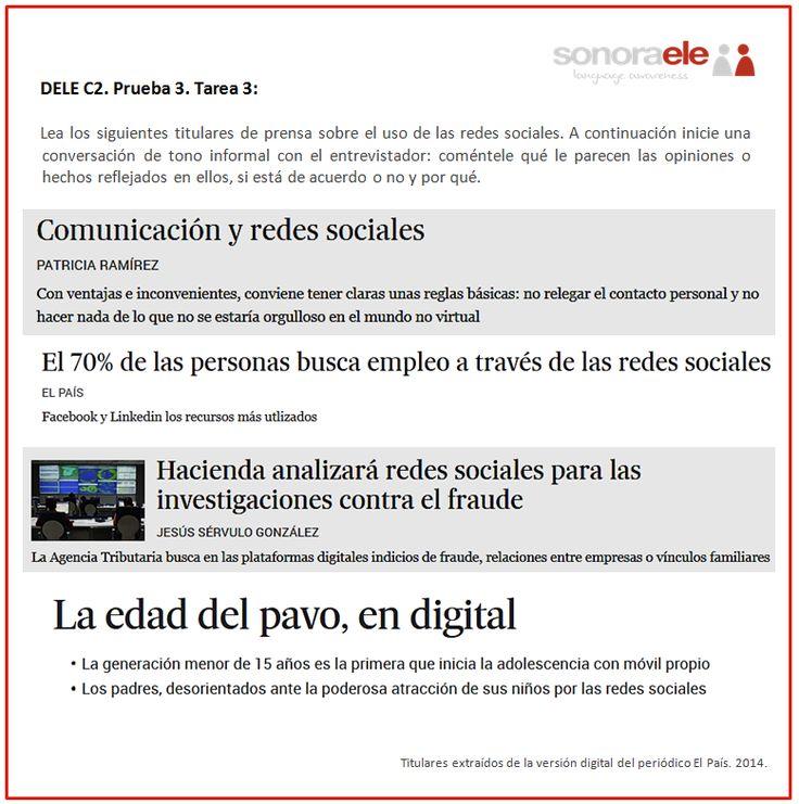 DELE C2. Prueba 3. Tarea 3. Titulares sobre el uso de las redes sociales (2).