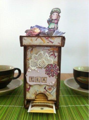 DIY & Craft - tutorial tea box http://mammeamoreefantasia.blogspot.it/
