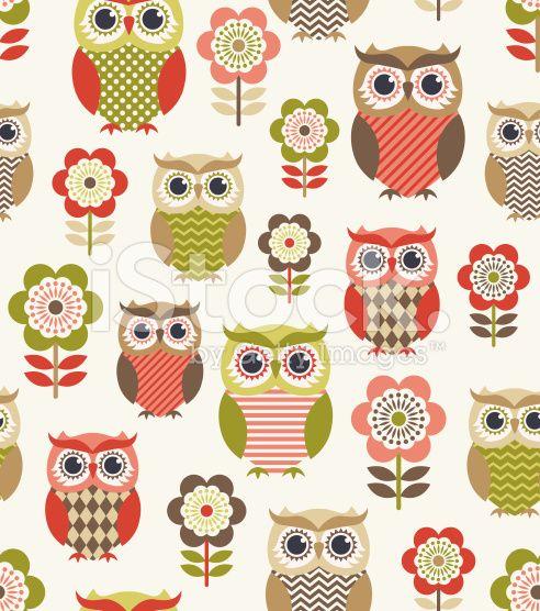 seamless owls cartoon background design royalty-free stock vector art                                                                                                                                                                                 More