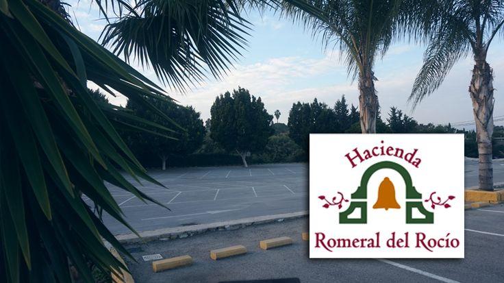 Zona de aparcamiento junto a los salones de bodas en Málaga, en Hacienda Romeral del Rocio #salonesbanquetesMalaga #salonesbodasMalaga