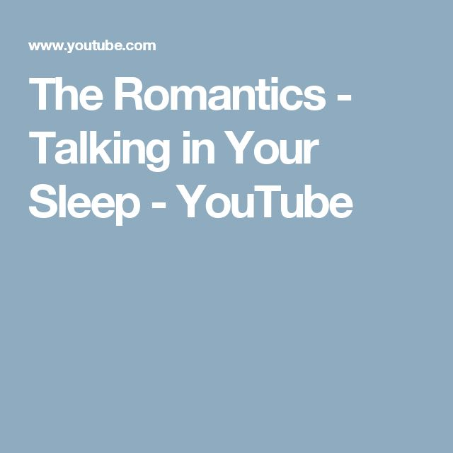 The Romantics - Talking in Your Sleep - YouTube
