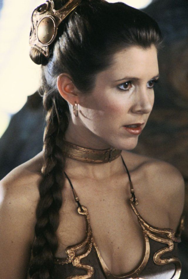 Carrie Fisher (as Princess Leia in Star Wars: Episode VI - Return of the Jedi)