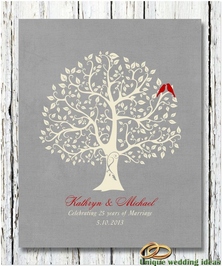 25 Year Anniversary Gift Ideas More Wedding