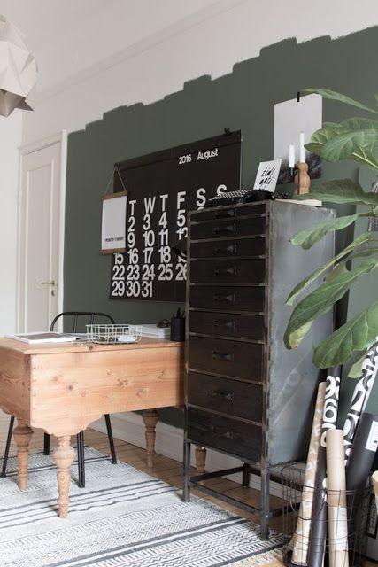 Décoration intérieure décoration mur kaki mur vert de gris décoration vert de gris décoration scandinave