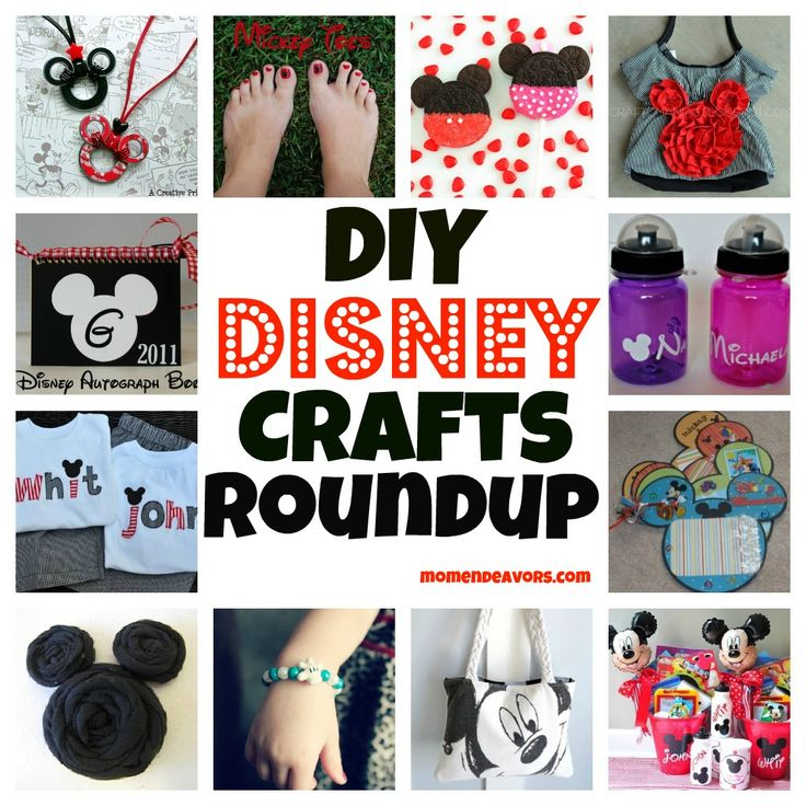 Disney Crafts Roundup10 Diy, Disney Goodies, Crafts Ideas, Creative Ideas, Disney Trips, Disney Trip Diy Projects, Diy Clothes, Diy Disney Crafts Roundup, Craft Ideas