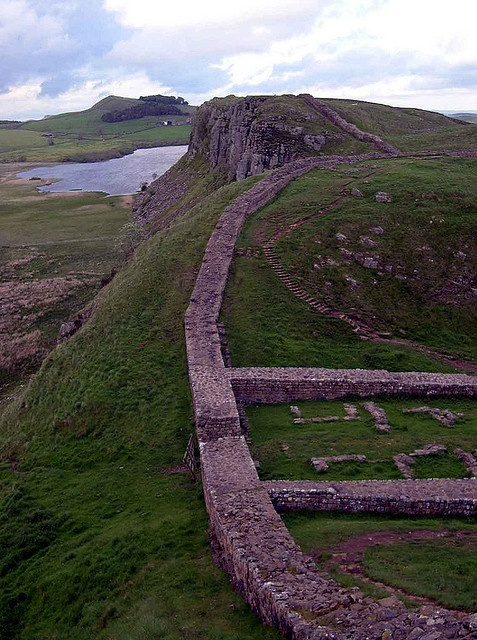Under Hadrian's rule, the empire spread to its greatest size. Hadrian's Wall in England, at the border of Scotland, marked the northern boundary of the Roman Empire.