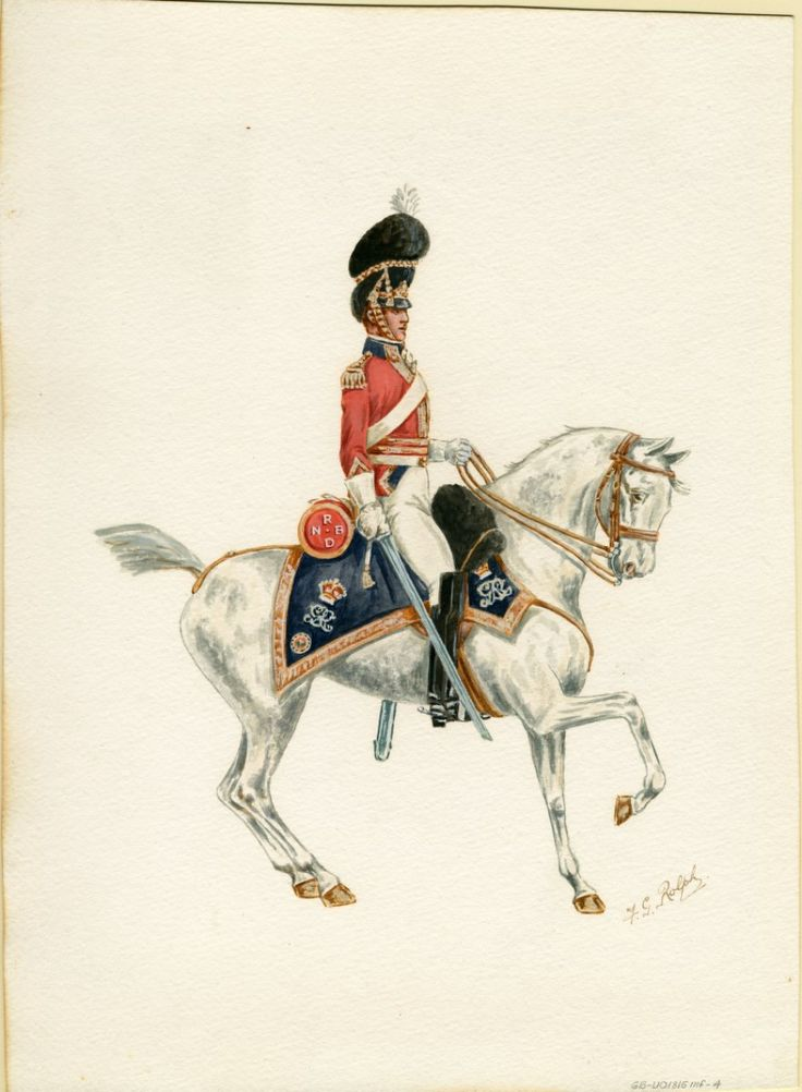 British; 2nd Royal North British Dragoons, Officer, 1815 by F.G.Rolph